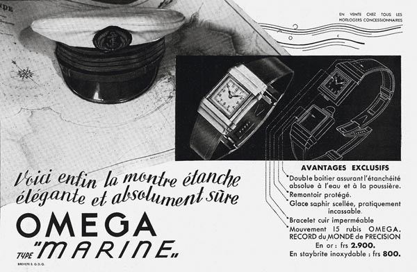 Advertisement for the Marine diver's watch