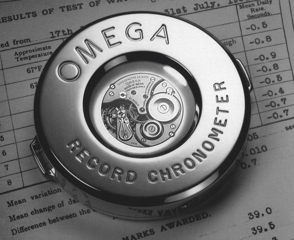 Advertisement for the 1936 OMEGA precision record