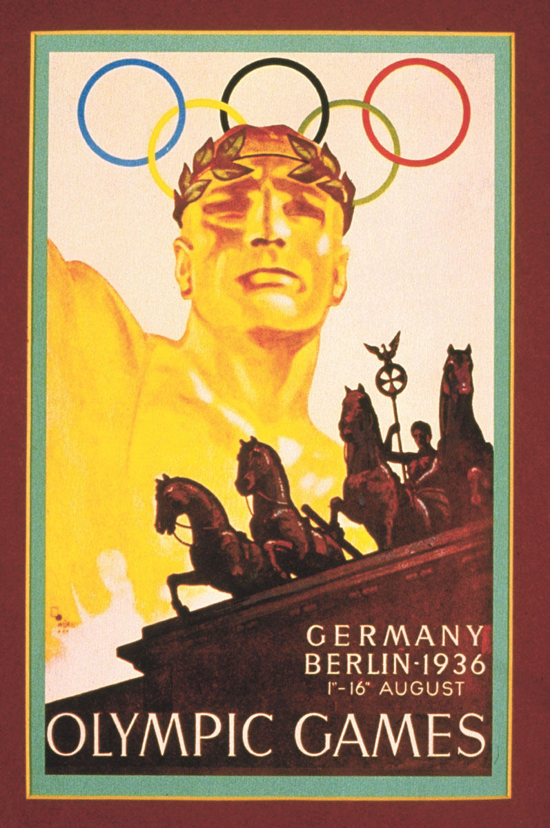 The 1936 Olympic Games poster