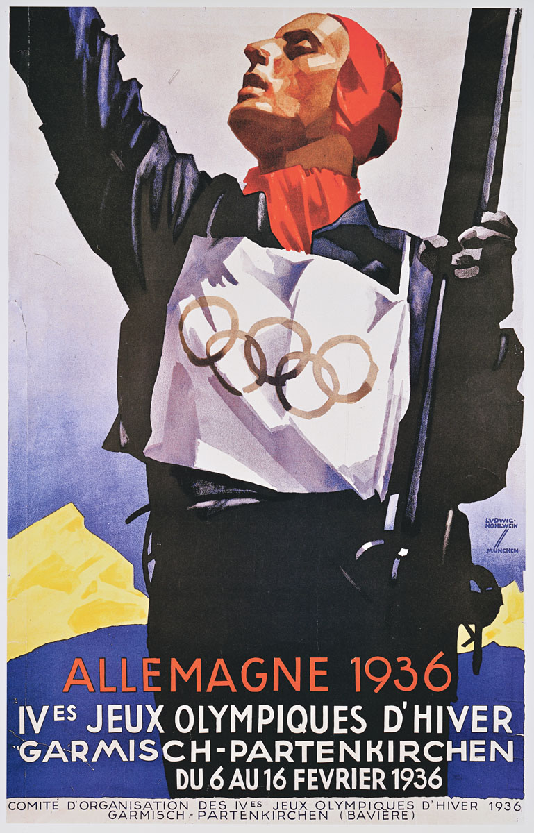 The 1936 Olympic Winter Games poster