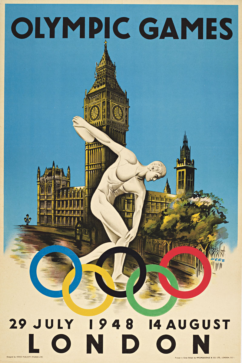 Olympic Games poster for London 1948