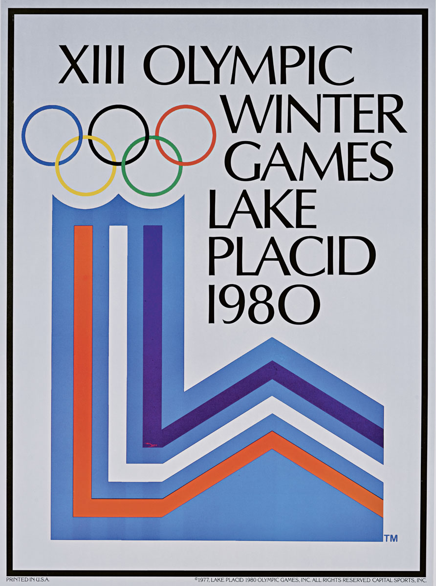 Poster for the 1980 Olympic Games in Lake Placid