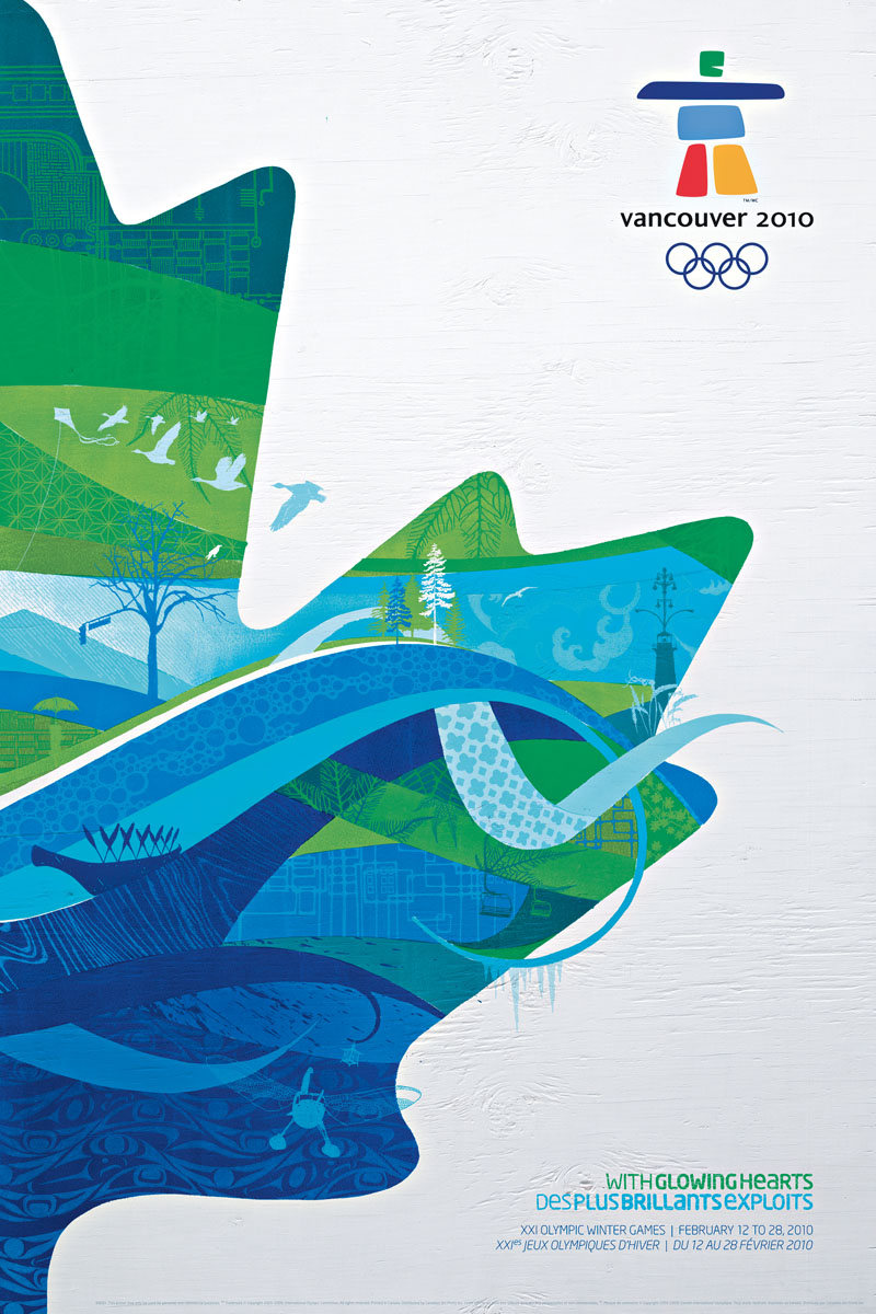 Poster for the Olympic Winter Games Vancouver 2010