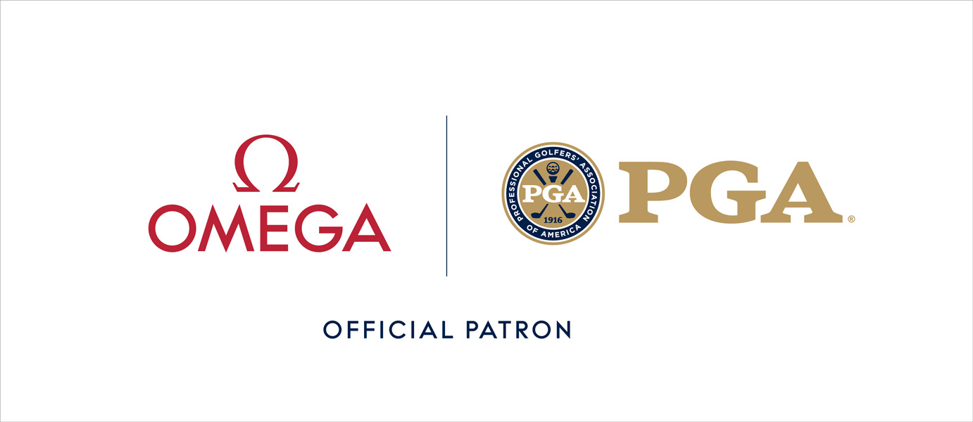 The logo illustrating the partnership between OMEGA and the PGA