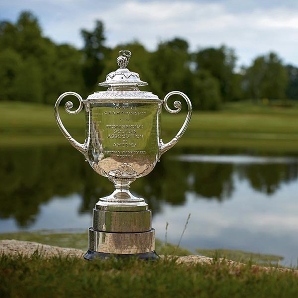 The winner's cup during the 2011 PGA golf tournament