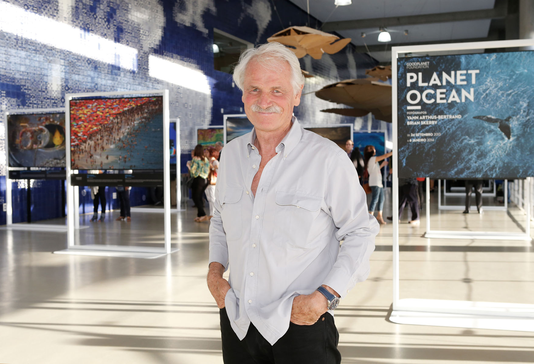 Yann Arthus Bertrand during his exhibition at Good Planet Foundation