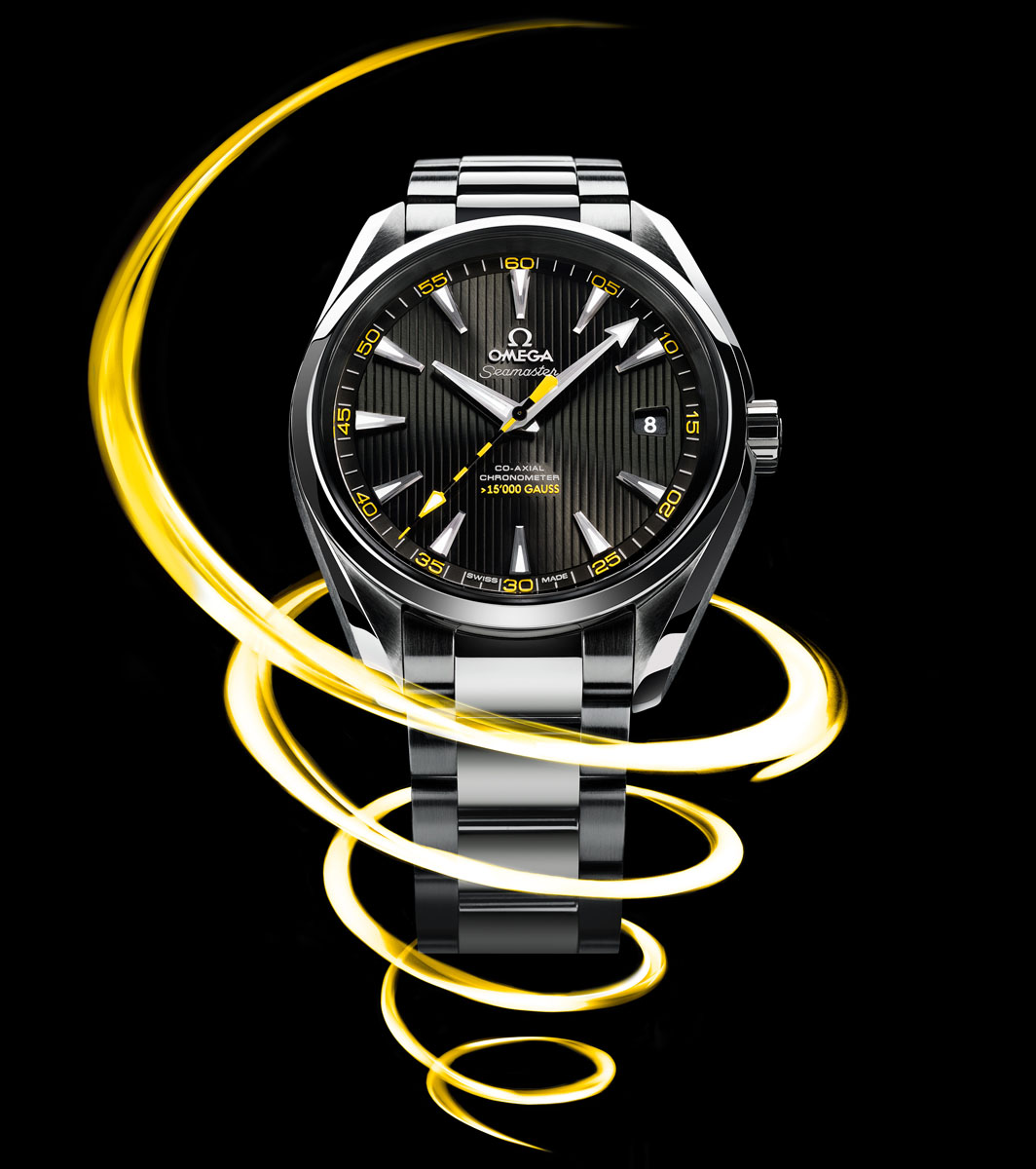 OMEGA Co-Axial 8508, a watch movement resistant to magnetic fields of more than 15,000 gauss