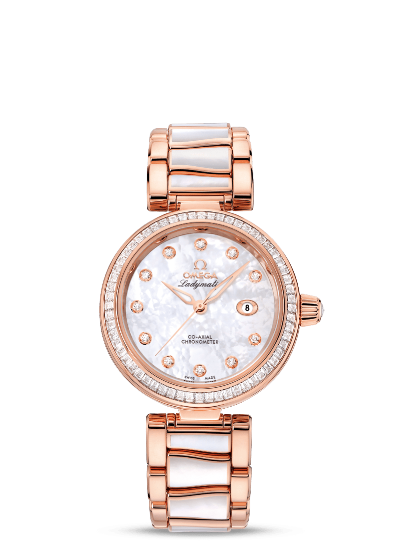 De Ville Ladymatic Co-Axial Chronometer 34 mm - SKU 425.65.34.20.55.007 Watch presentation