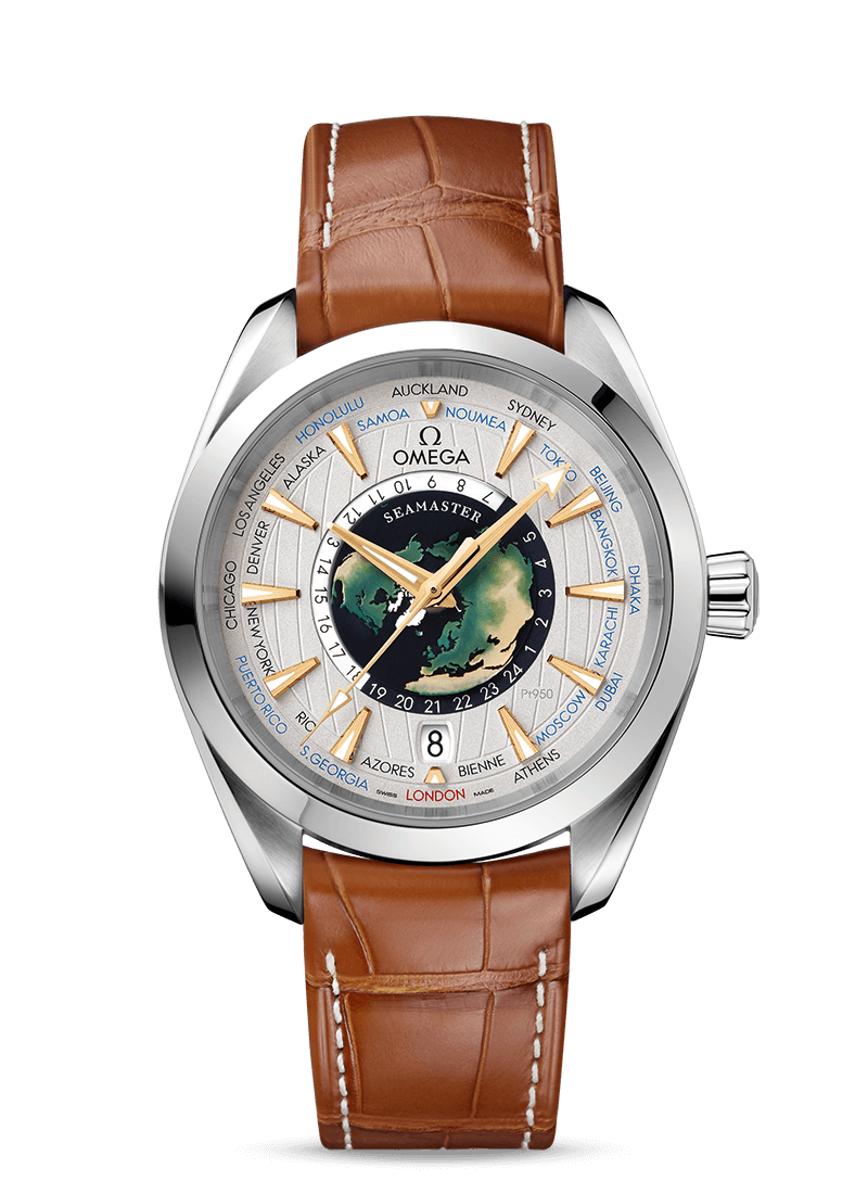 Seamaster Aqua Terra 150M Worldtimer - SKU 220.93.43.22.99.001 Watch presentation