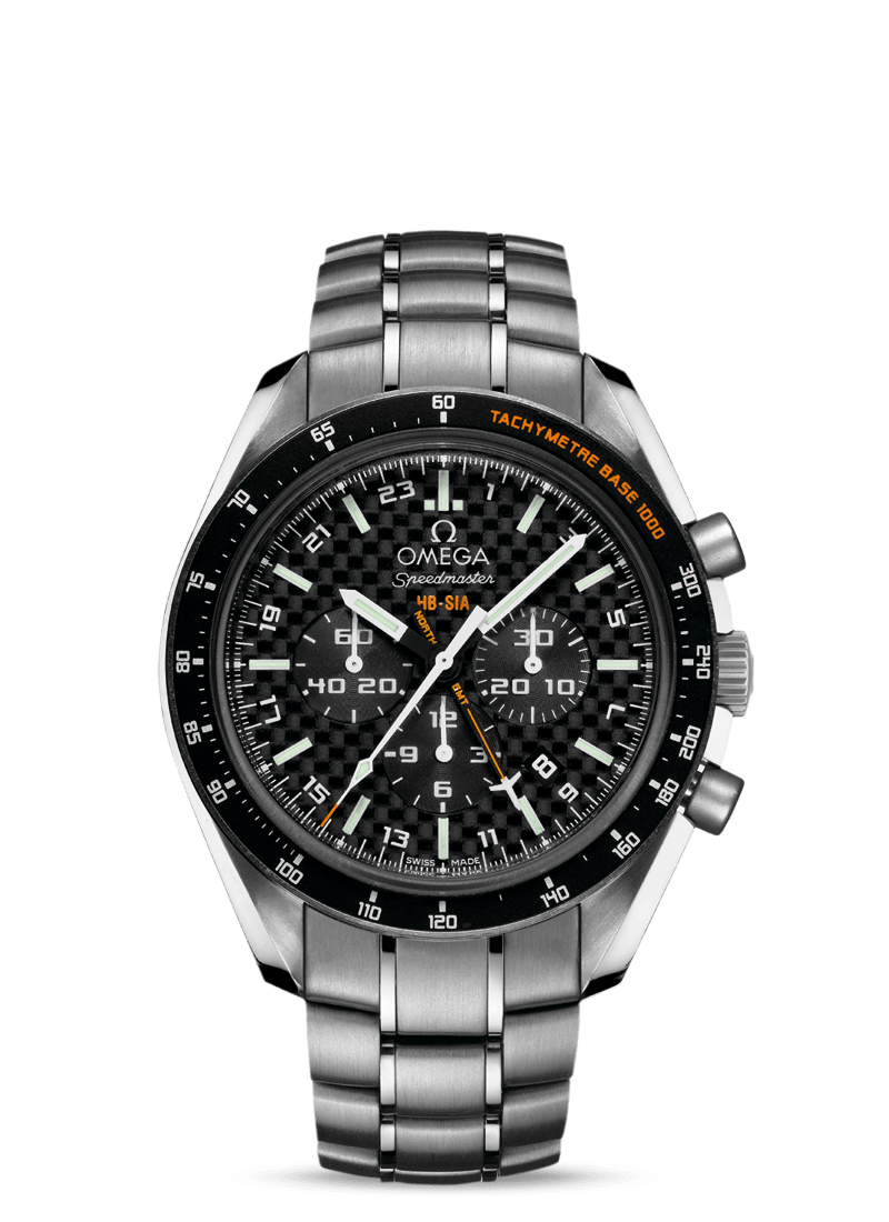Speedmaster HB-SIA Co-Axial GMT Chronograph Numbered Edition 44,25mm - SKU 321.90.44.52.01.001 Watch presentation