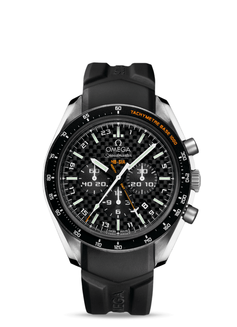 Speedmaster HB-SIA Co-Axial GMT Chronograph Numbered Edition 44,25mm - SKU 321.92.44.52.01.001 Watch presentation