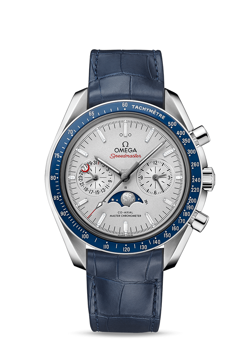 Speedmaster Moonwatch Omega Co-Axial Master Chronometer Moonphase Chronograph 44.25 mm - SKU 304.93.44.52.99.004 Watch presentation