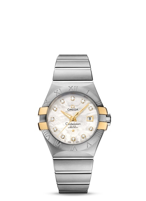 Constellation Omega Co-Axial 31 mm - Steel ‑ yellow gold on steel