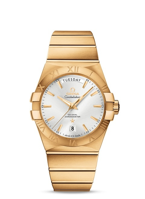 Constellation Omega Co-Axial Day-Date 38 mm - Yellow gold on yellow gold