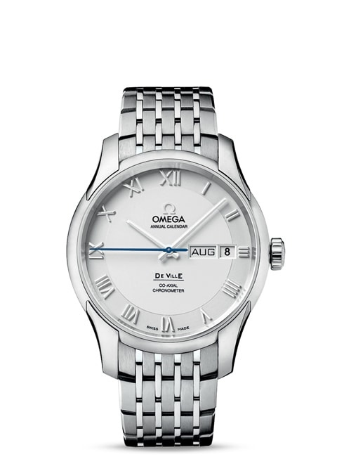 De Ville GENTS' COLLECTION Omega Co-Axial Annual Calendar 41mm - Steel on steel