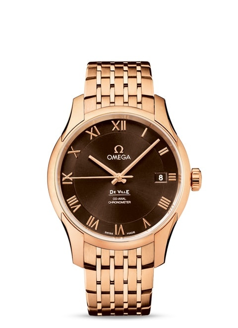 De Ville GENTS' COLLECTION Omega Co-Axial 41mm - Red gold on red gold