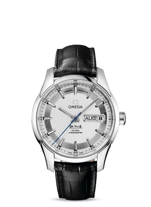De Ville Hour Vision Omega Co-Axial Annual Calendar 41mm - Steel on leather strap