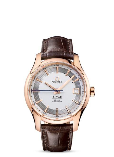 De Ville Hour Vision Omega Co-Axial 41mm - Red gold on leather strap
