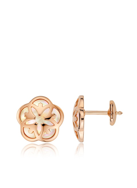 Omega Flower Earring