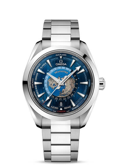 Aqua Terra 150M Omega Co-Axial Master Chronometer GMT Worldtimer 43 mm - 220.10.43.22.03.001