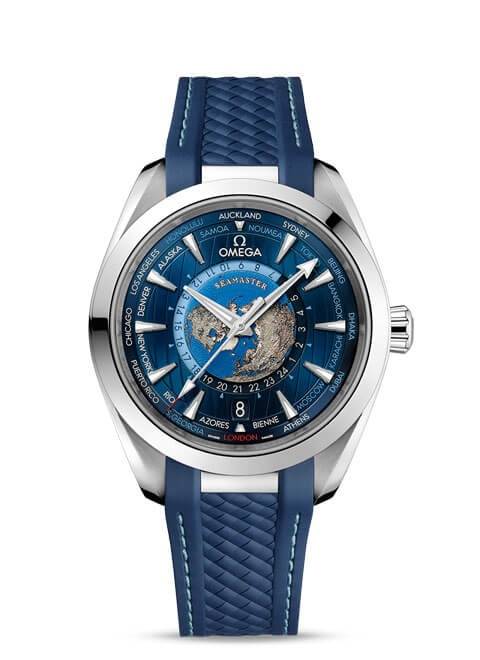 Aqua Terra 150M Omega Co-Axial Master Chronometer GMT Worldtimer 43 mm - 220.12.43.22.03.001