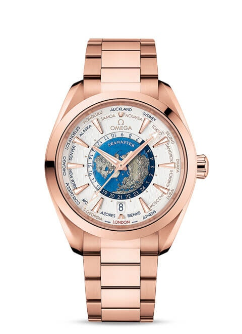 Aqua Terra 150M Omega Co-Axial Master Chronometer GMT Worldtimer 43 mm - 220.50.43.22.02.001