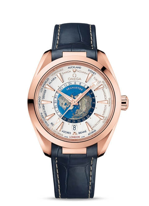 Aqua Terra 150M Omega Co-Axial Master Chronometer GMT Worldtimer 43 mm - 220.53.43.22.02.001
