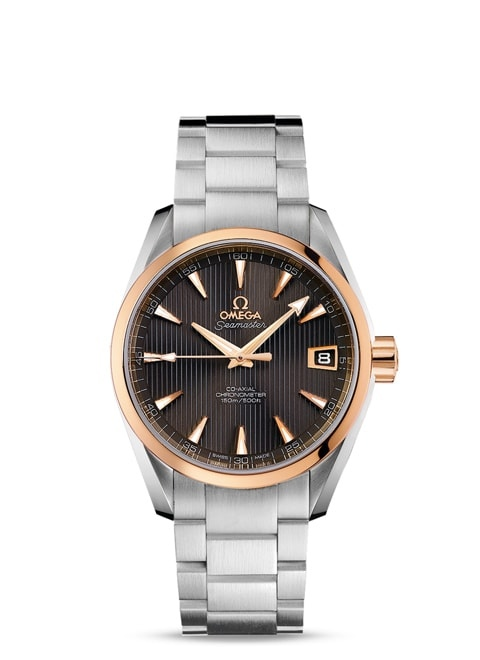 Seamaster Aqua Terra 150M Omega Co-Axial 38.5 mm - Steel ‑ red gold on steel