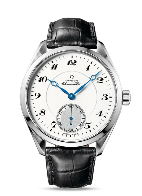 Seamaster Aqua Terra 150M XXL Small Seconds 49.2 mm - White gold on leather strap