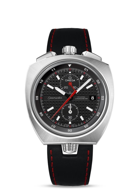 Seamaster Bullhead Co-Axial Chronograph 43 x 43 mm - Steel on leather strap