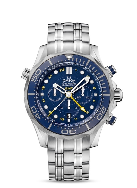 Seamaster Diver 300 M Co-Axial GMT Chronograph 44 mm - Steel on steel