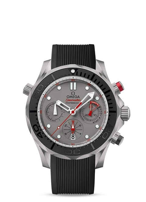 Seamaster Diver 300 M Co-Axial Chronograph 44 mm - Titanium on rubber strap
