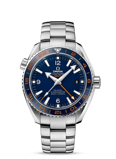 Seamaster Planet Ocean 600M Omega Co-axial GMT 43.5 mm - Steel on steel