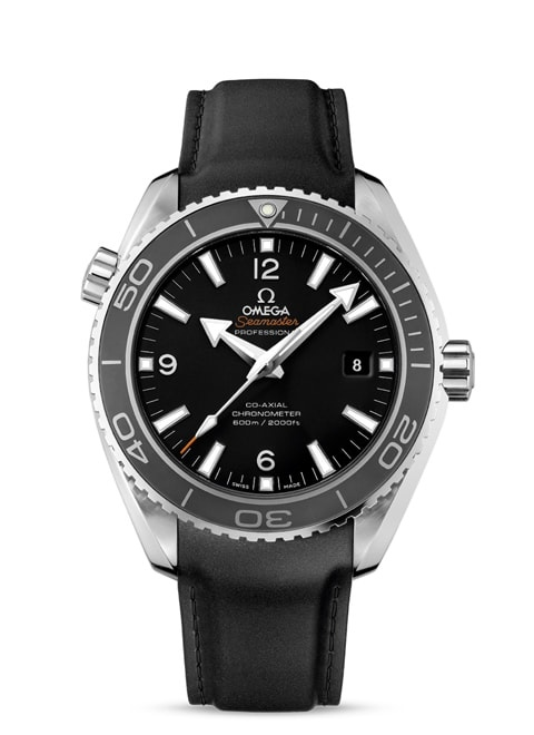 Seamaster Planet Ocean 600M Omega Co-Axial 45.5 mm - Steel on rubber strap
