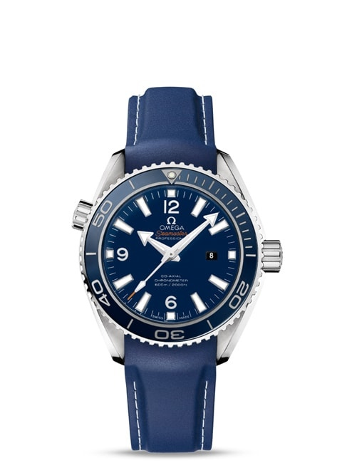 Seamaster Planet Ocean 600M Omega Co-Axial 37.5 mm - Titanium on rubber strap