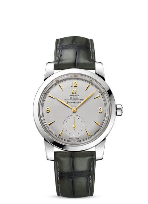 Seamaster 1948 Omega Co-Axial Master Chronometer Small Seconds 38 mm - Platinum on leather strap