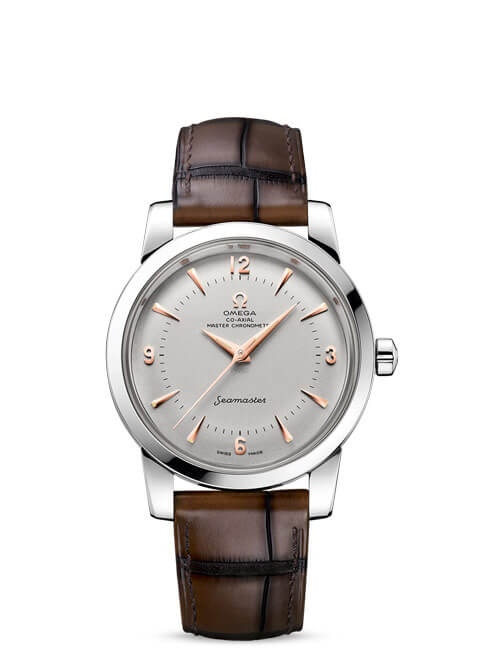 Seamaster 1948 Omega Co-Axial Master Chronometer 38 mm - Platinum on leather strap