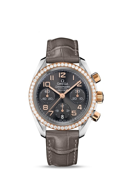 Speedmaster Ladies' Chronograph Chronograph 38 mm - Steel on leather strap