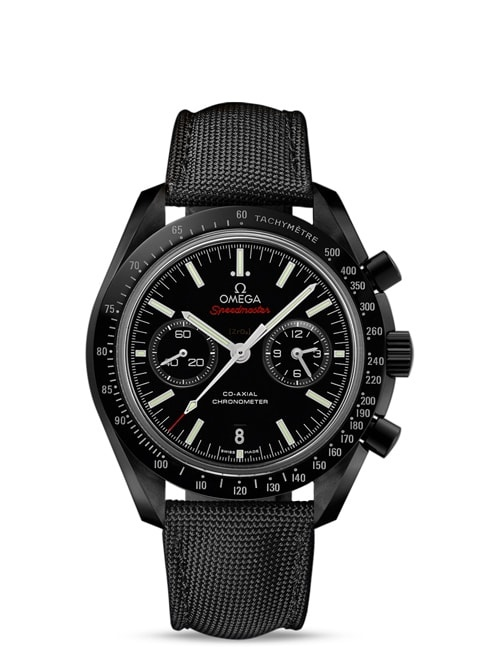 Speedmaster Moonwatch Omega Co-Axial Chronograph 44.25 mm - Black ceramic on coated nylon fabric strap