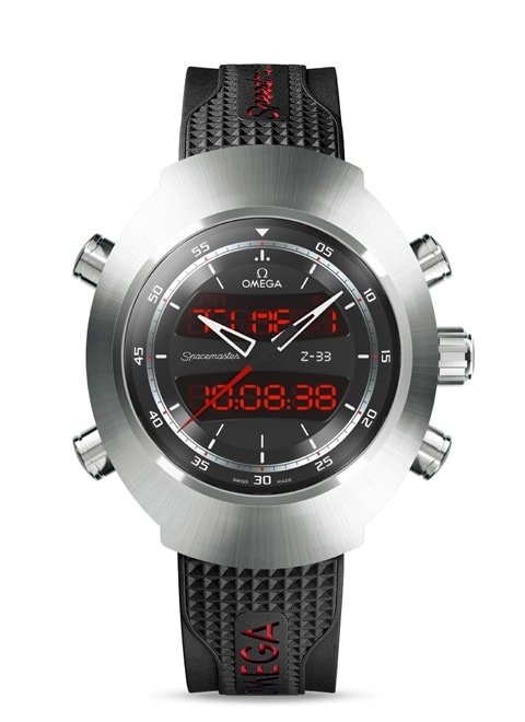 Speedmaster Spacemaster Z-33 Chronograph 43 x 53 mm - Titanium on rubber strap