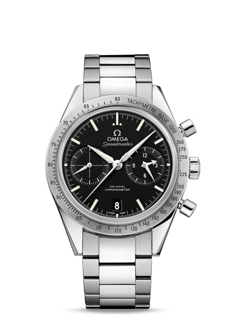 Speedmaster '57 Omega Co-Axial Chronograph 41.5 mm - Steel on steel