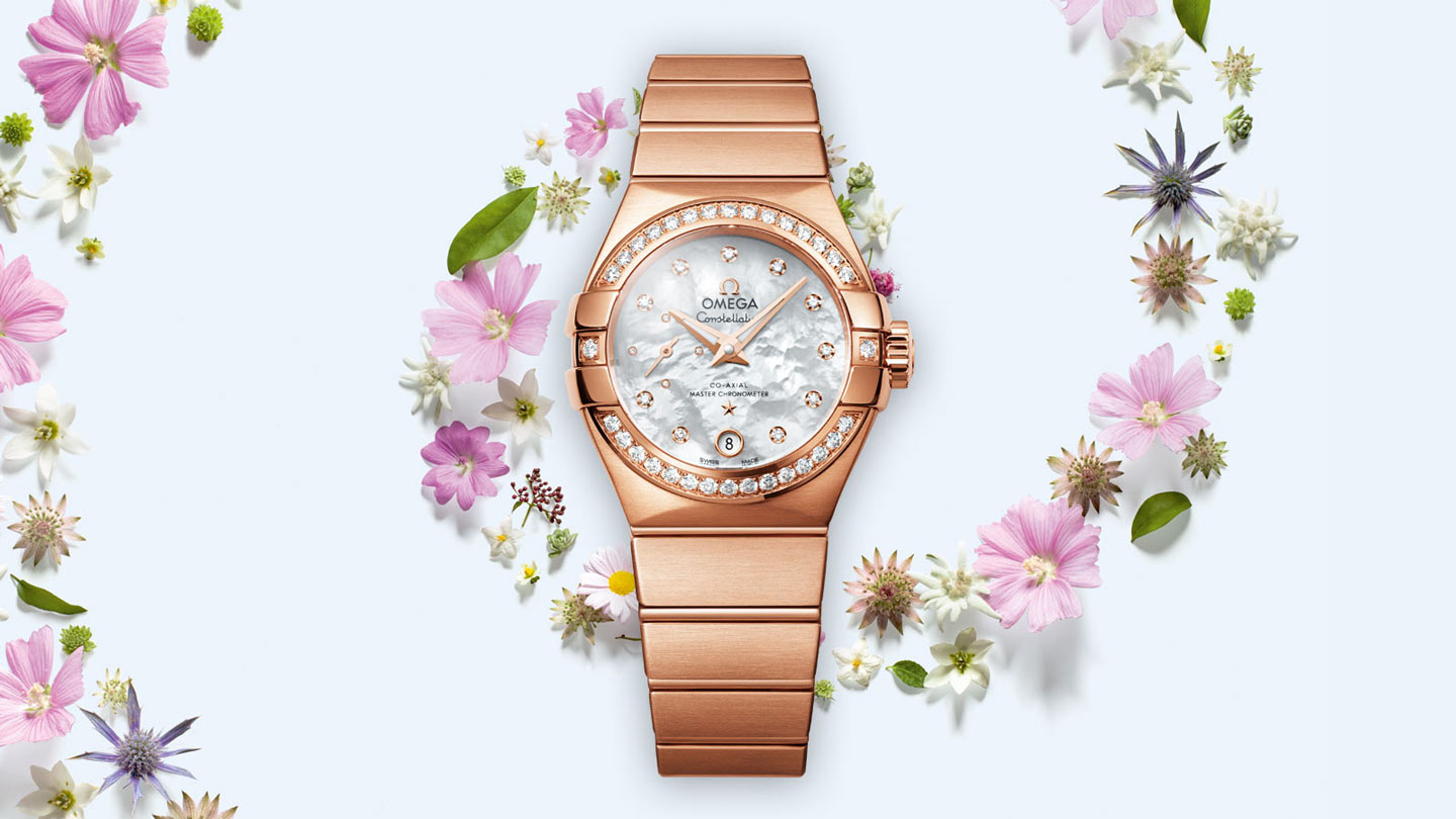 Constellation Constellation Constellation Omega Co‑Axial Master CHRONOMETER Small Seconds 27mm - 127.55.27.20.55.001 - Vista 1