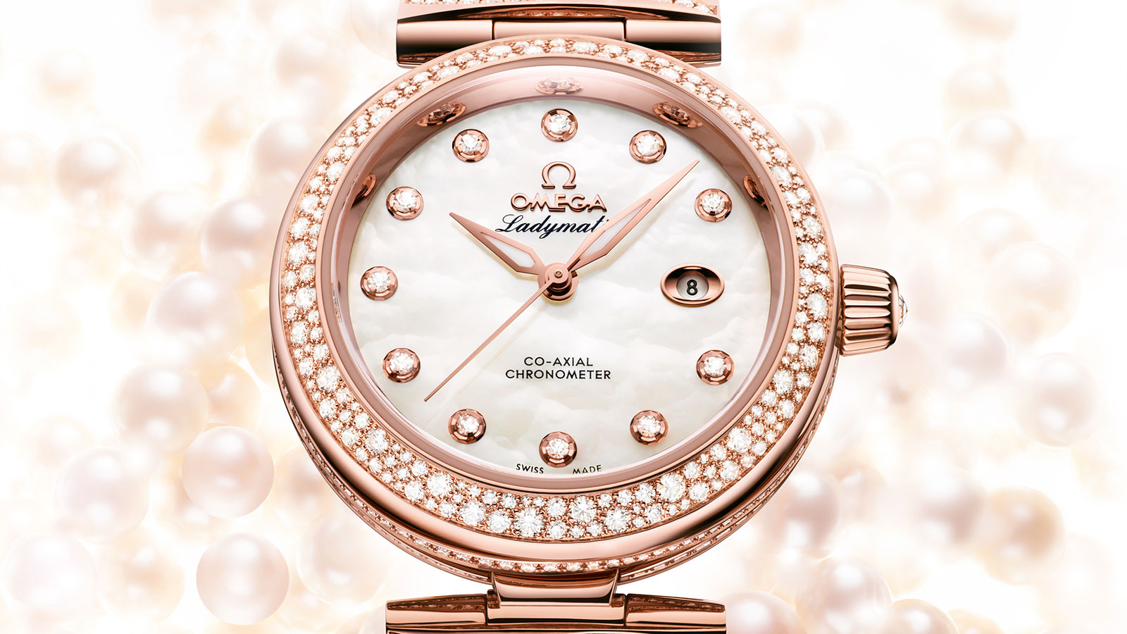 De Ville LADYMATIC Ladymatic Omega Co‑Axial 34 mm Referenz - 425.65.34.20.55.008