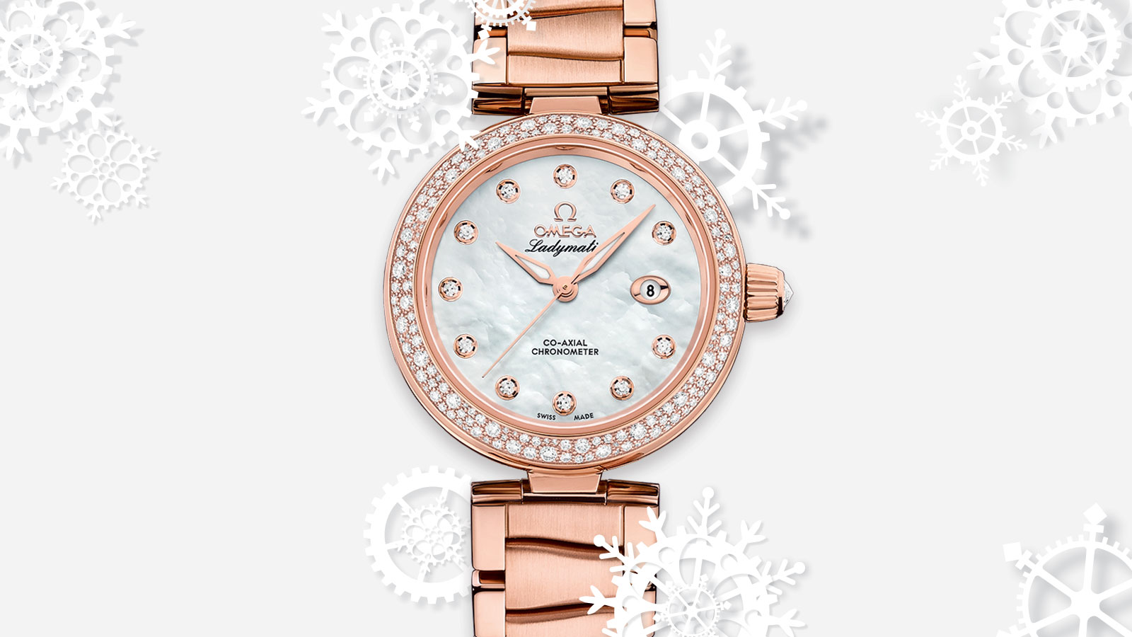 De Ville Ladymatic Ladymatic Omega Co‑Axial 34 mm Watch - 425.65.34.20.55.010