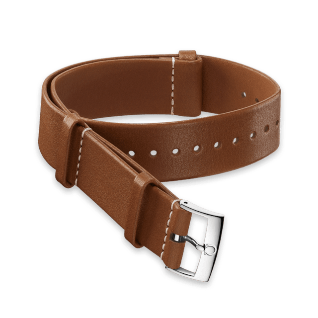 Golden brown Novonappa leather strap - 031CUZ002058