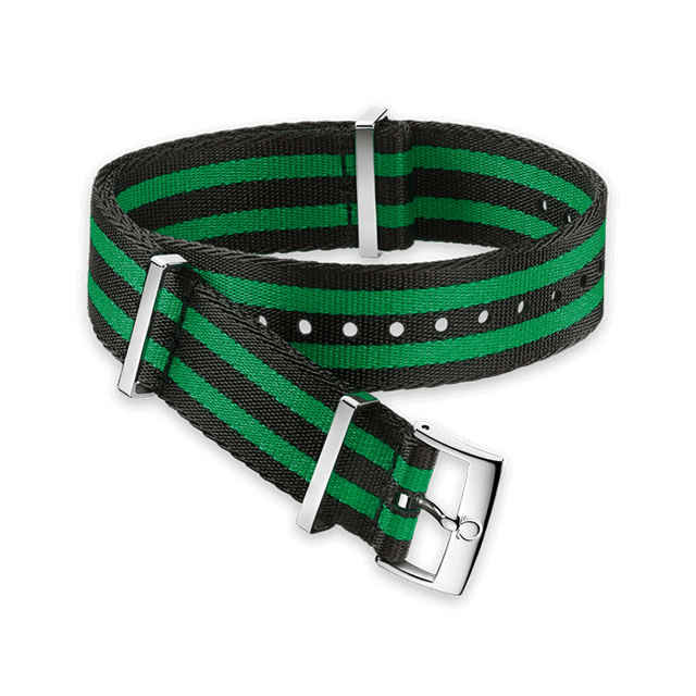 Polyamide 5‑stripe black & green strap - 031CWZ008803