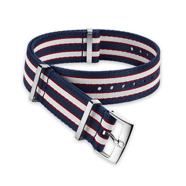 Polyamide striped red, white and blue strap - 031CWZ010632