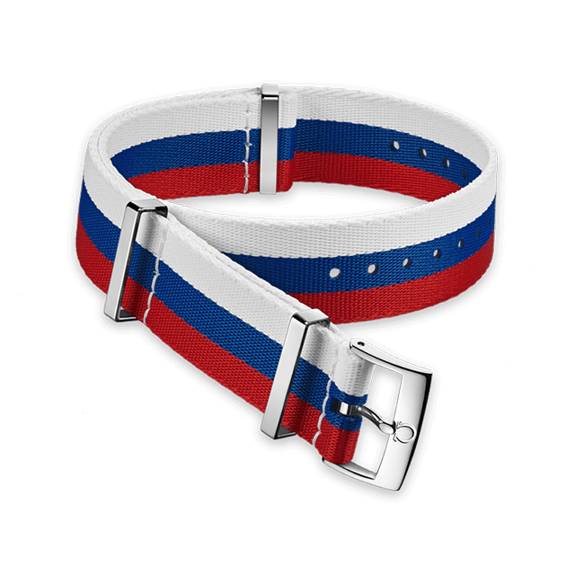 Polyamide 3‑stripe white, blue and red strap - 031CWZ010644