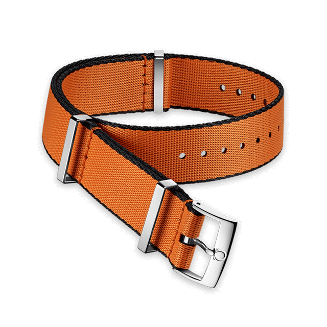 Polyamide orange strap with black borders - 031CWZ010648