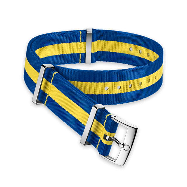 Polyamide 3‑stripe blue and yellow strap - 031CWZ010660